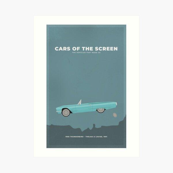 Cars of the Screen - 1966 Thunderbird - Thelma & Louise, 1991 Art Print