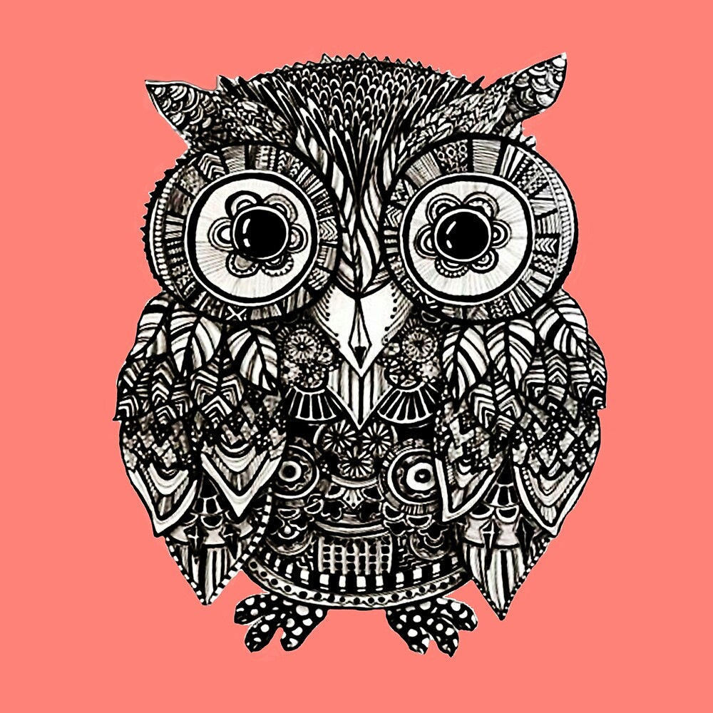 Quot Mandala Owl Quot By Annie2 Redbubble