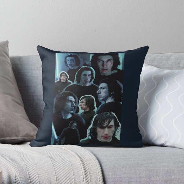 Adam Driver as Ben Solo Collage Edit Throw Pillow