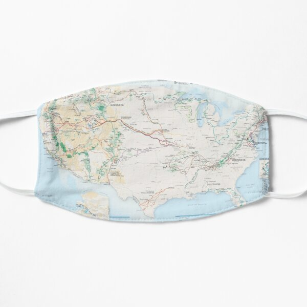 National Parks Trail Map Mask