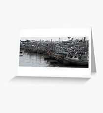 Boat Congestion Greeting Card