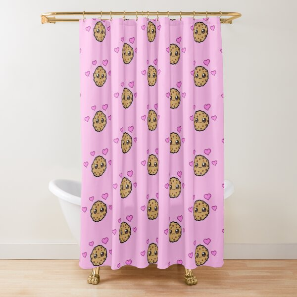 Love hearts Cookie Shower Curtain