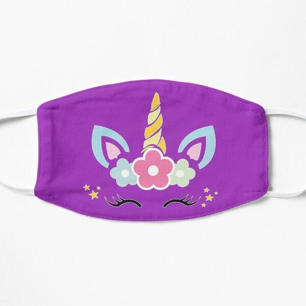 Unicorn Face Flat Mask