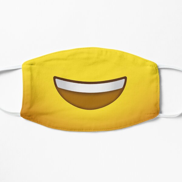 Emoji Face - Happy Big Smile Mascarilla plana