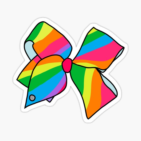 Jojo Siwa Rainbow Bow Sticker