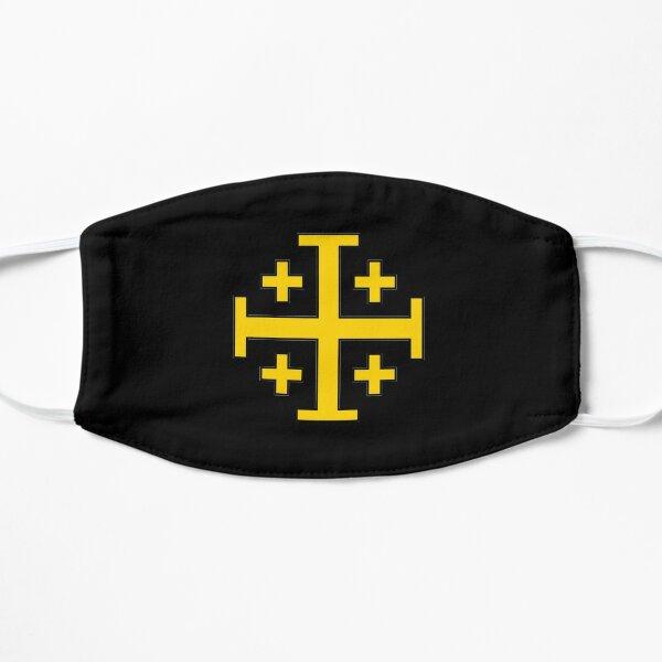 Yellow Jerusalem Cross Flat Mask