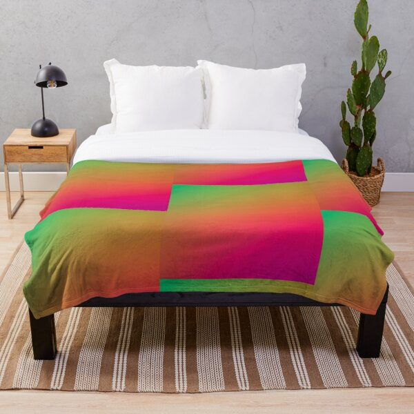 Colored Light POG Throw Blanket