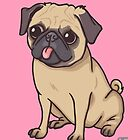 PUG (pink) by Ben Farr