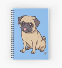 PUG (blue) Spiral Notebook