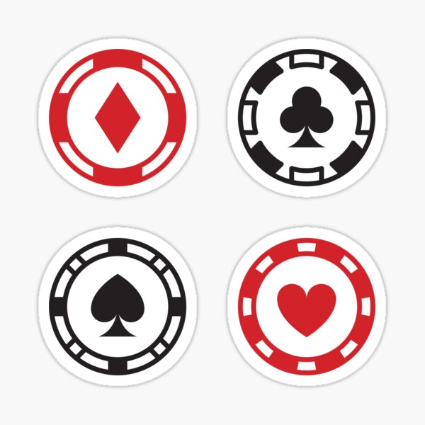 Poker Chips - Playing Card Suit Pack Sticker