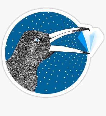 Magpie's Winter Heart Sticker