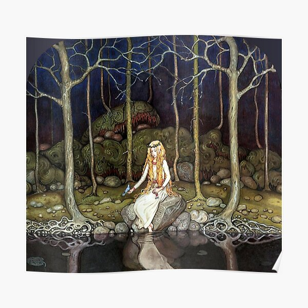 Princess in the Forest - John Bauer Poster