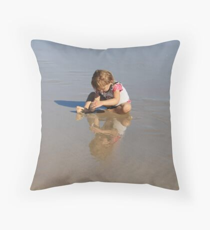 Reflection of Sand & Water Play Throw Pillow
