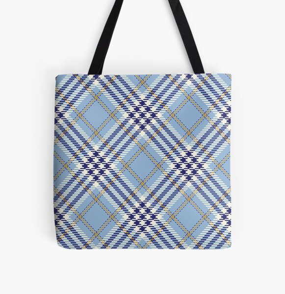 Geomatric line pattern for birthdaygift blue All Over Print Tote Bag