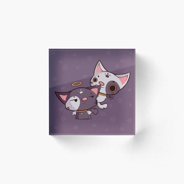 Cheeky Kitties Acrylic Block