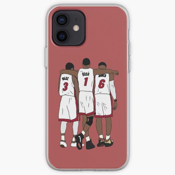 Wade, Bosh & LeBron iPhone Soft Case