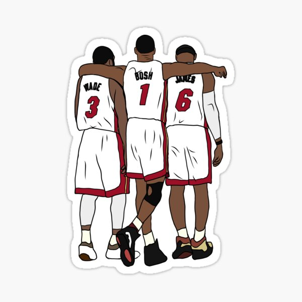Wade, Bosh & LeBron Sticker