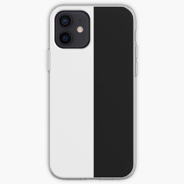 Half White Half Black A-Line Dress iPhone Soft Case