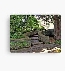 Curving Garden Steps, Skylands Manor, Ringwood NJ Canvas Print