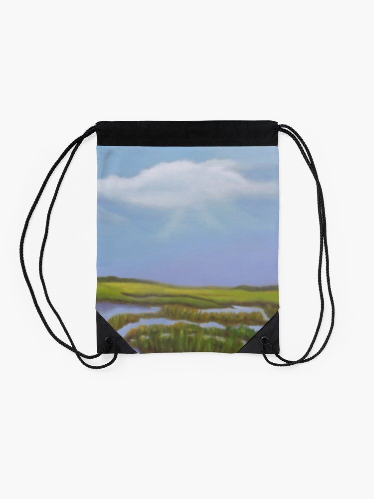 Alternate view of Before the Storm Drawstring Bag