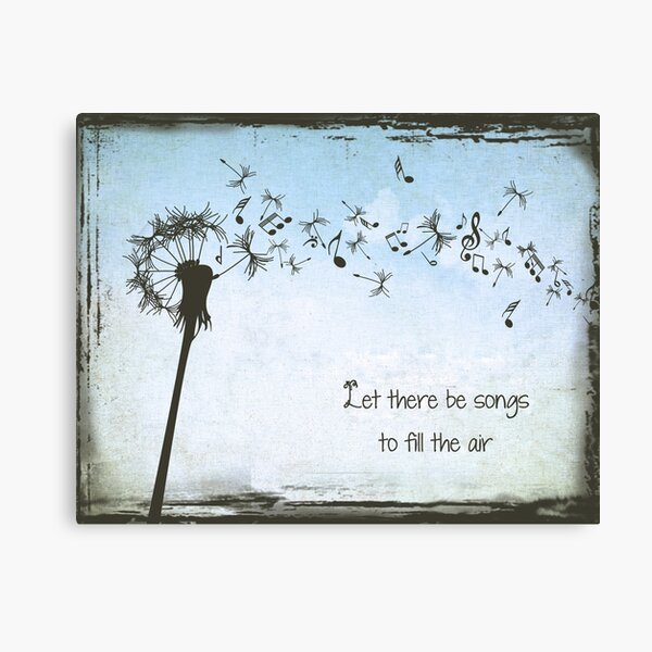 Grateful Dead - Let Their Be Songs to Fill the Air Canvas Print