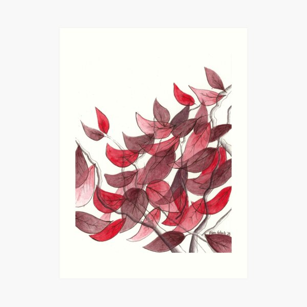 The Red Tree Down the Street Art Print