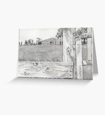 Barn in Grayscale Greeting Card