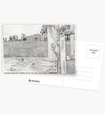 Barn in Grayscale Postcards