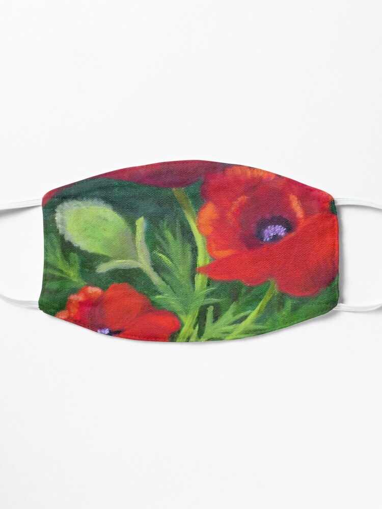 Alternate view of Poppies in the Wild Mask