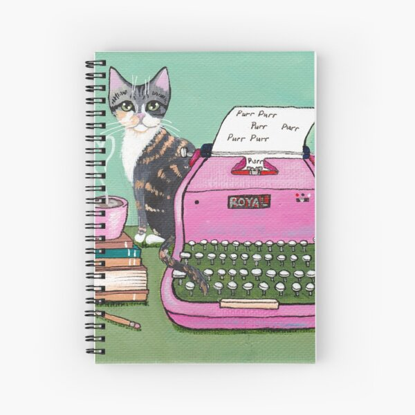 Love Note From The Cat Spiral Notebook