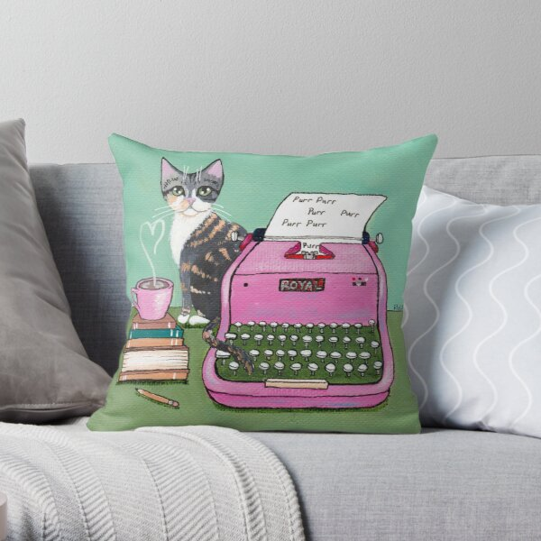 Love Note From The Cat Throw Pillow