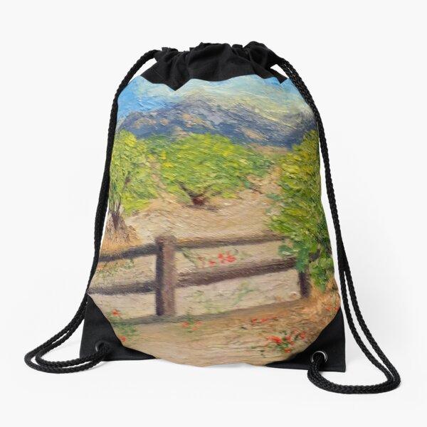 Santa Catalina Mountains Drawstring Bag