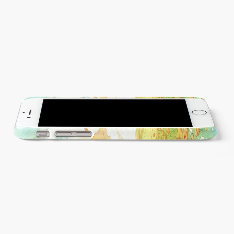 Alternate view of Meadow Frolic Watercolor Fox Kitsune Pattern iPhone Case & Cover