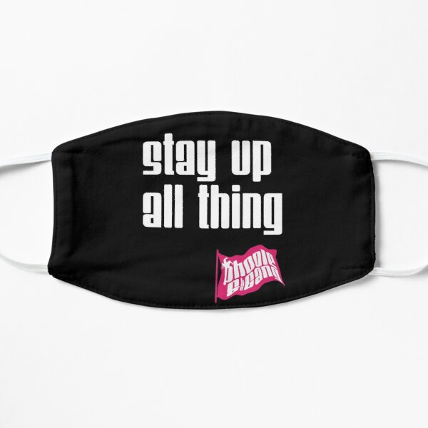 Stay Up All Thing Flat Mask