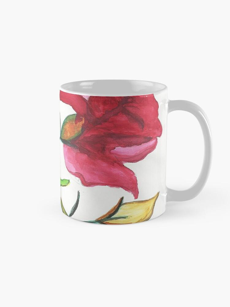 Alternate view of Carnations Watercolor Painting Mug