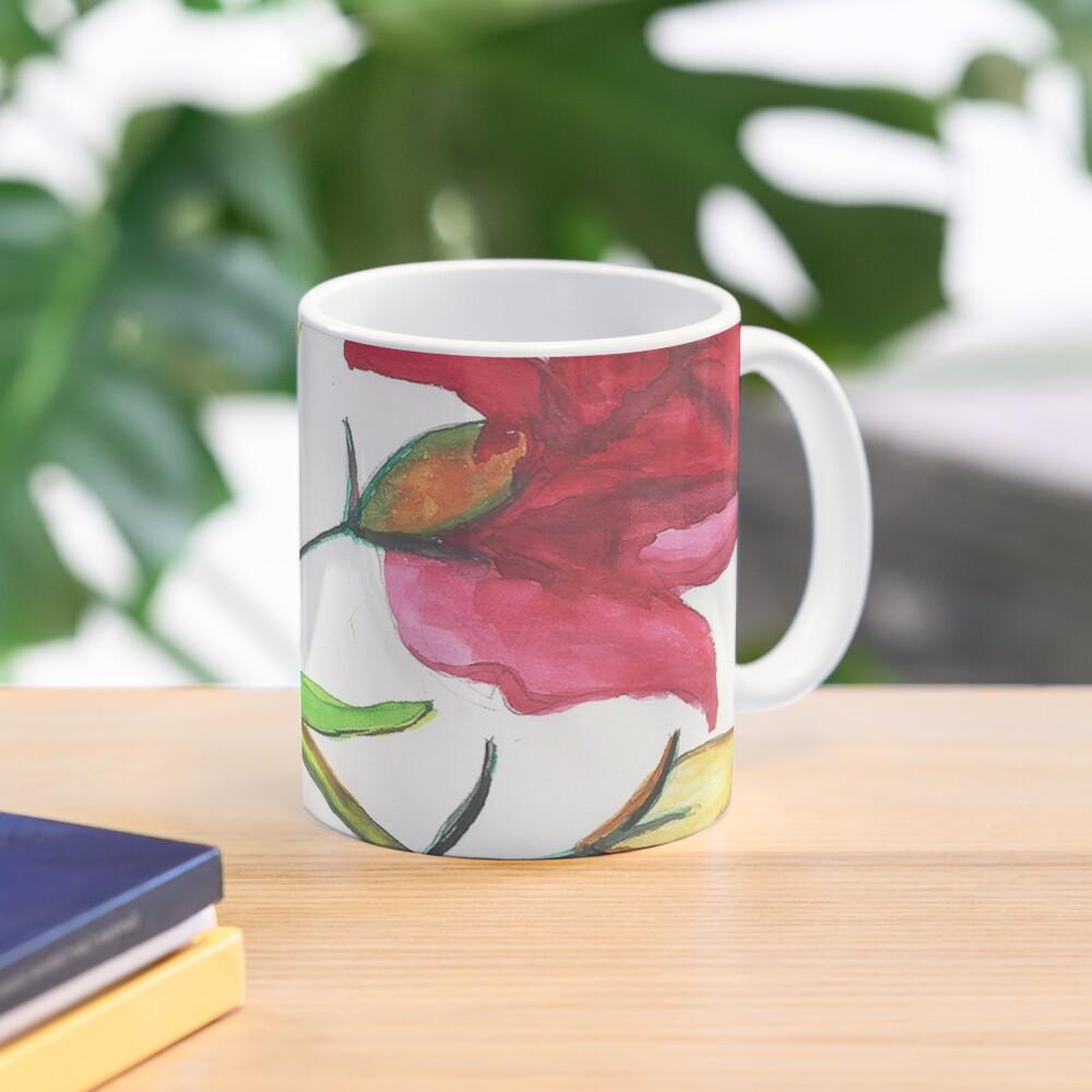 Carnations Watercolor Painting Mug