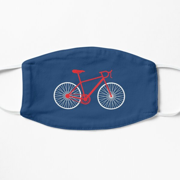 Modern Red and White Bicycle Mask