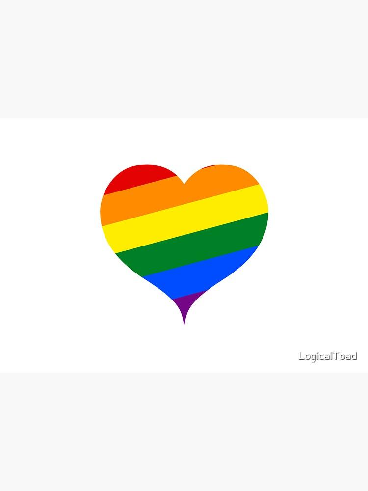 LGBTQ Heart Rainbow by LogicalToad