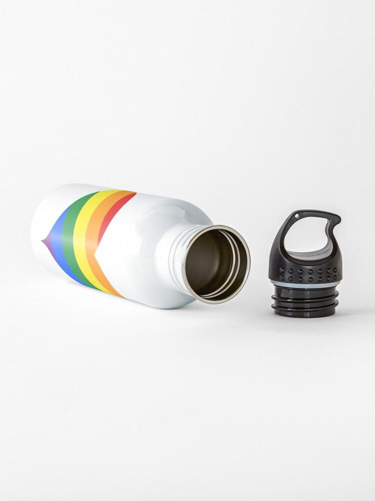 Alternate view of LGBTQ Heart Rainbow Water Bottle