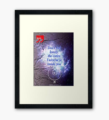 Rumi's Inspirational Quote Framed Print