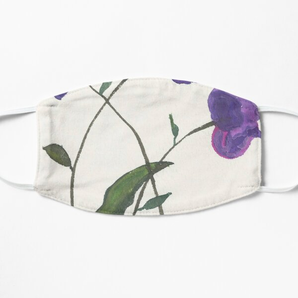 Purple Violets Watercolor Painting Mask