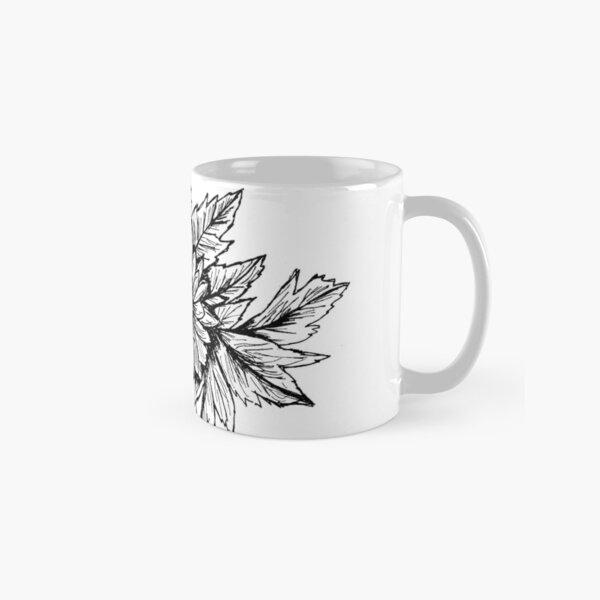 Pen and Ink Chrysanthemum Classic Mug