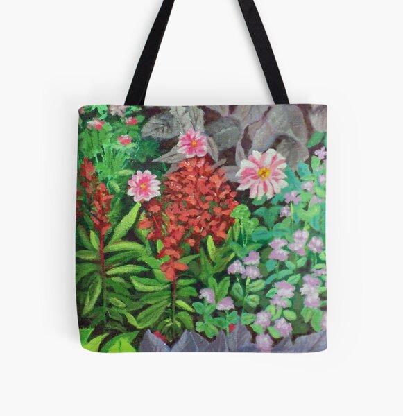 Alaskan Flora All Over Print Tote Bag