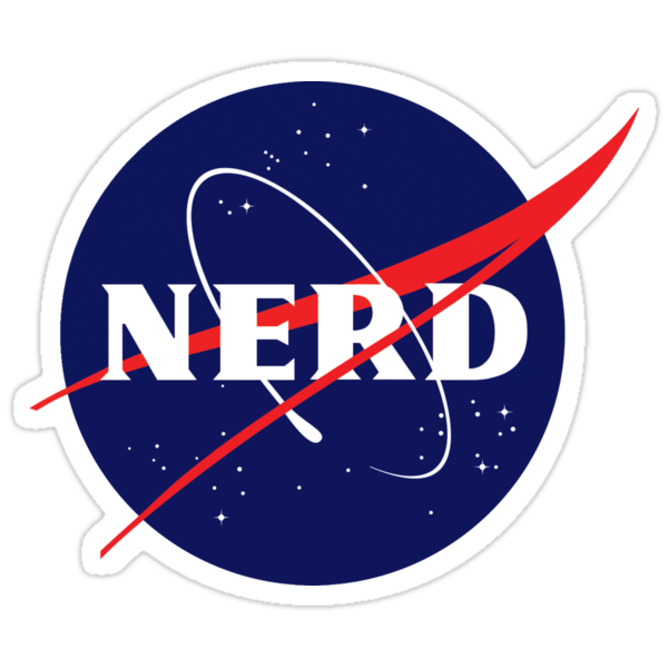 Quot Nasa Nerd Logo Parody Quot Stickers By Jeffest Redbubble