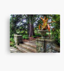 Stone Garden Steps, Skylands Manor, Ringwood NJ Canvas Print