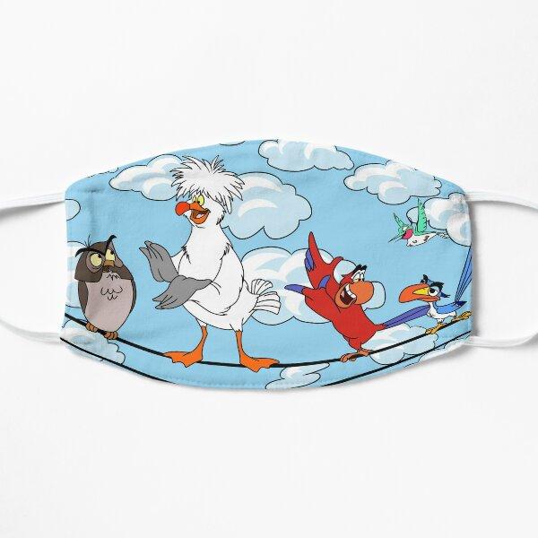 Oiseaux sur un fil Masque sans plis