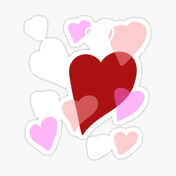 Hearts and love. Emotion and romance Sticker