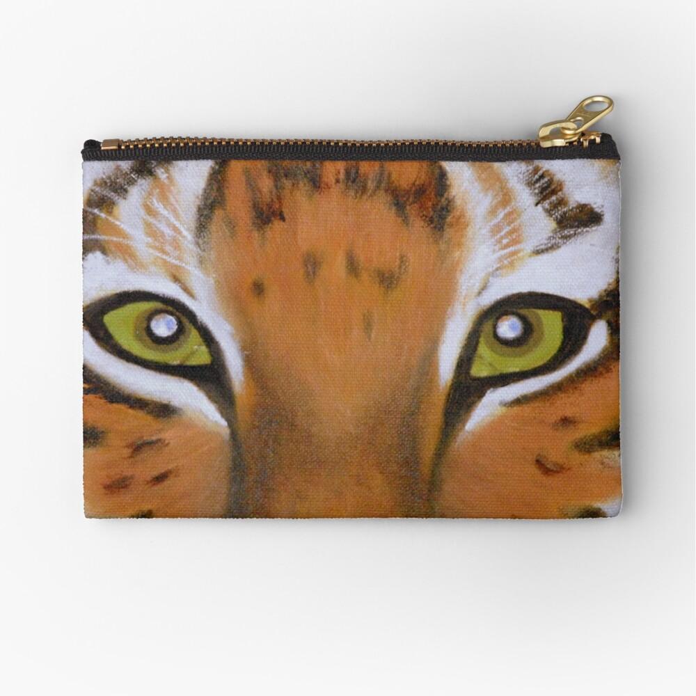 Tiger Eyes Zipper Pouch
