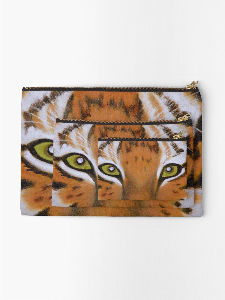 Alternate view of Tiger Eyes Zipper Pouch