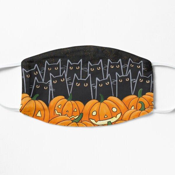 Black Cats & Jack-o-Lanterns Flat Mask